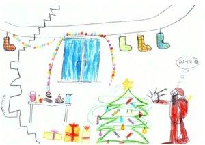 karácsonyi rajz