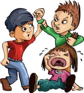 Gyerekek veszekednek